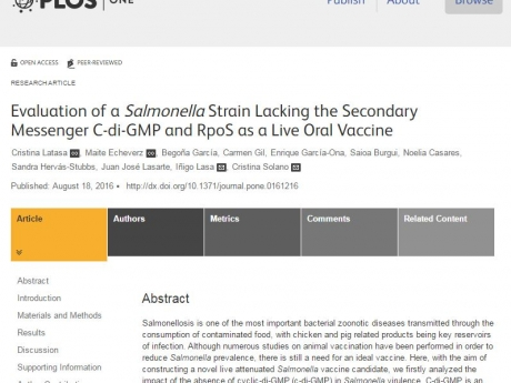 RECOMBINA participates in a study for evaluating a novel live attenuated vaccine against Salmonella